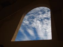 Sky thorough the wall Royalty Free Stock Image