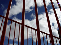 Sky Though Bars Stock Image