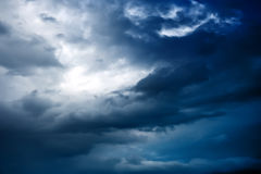 Sky before a thunderstorm. Clouds sky before a thunderstorm stock photography