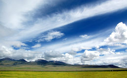 Sky of Tibet Plateau Royalty Free Stock Photo