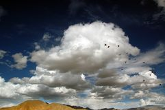 Sky in Tibet Plateau Royalty Free Stock Photography