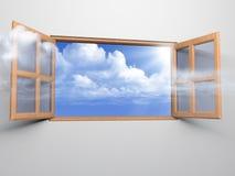 sky till fönstret Royaltyfri Fotografi
