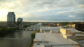 Sky Time Lapse Over Grand Rapids stock video footage