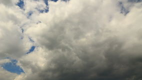 Sky timelapse gray clouds storm is coming stock footage