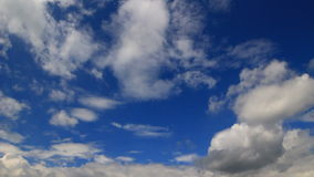 Sky timelapse white clouds storm is coming stock footage