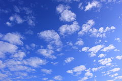 Sky with tiny cloud Royalty Free Stock Image