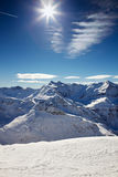 Sky to mountain panorama at the alps Royalty Free Stock Images