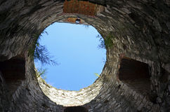 Sky tower. Tower to the sky at Soroca fortress in northern Republic of Moldova stock photos