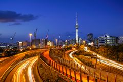 Sky Tower of Auckland Royalty Free Stock Images