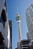 Sky tower building in central Auckland, New Zealand. The Sky tower building in the central Auckland, the second largest city in New Zealand royalty free stock photography