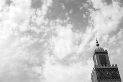 Sky tower. Mosque tower sky stock photography