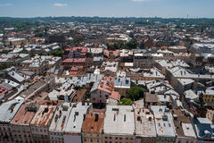 Sky and town at daytime. Royalty Free Stock Photo