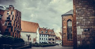 Sky, Town, Landmark, Building stock photography