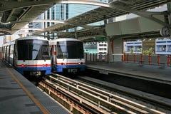 Sky train. BTS Skytrain at a Station in Bangkok Royalty Free Stock Image
