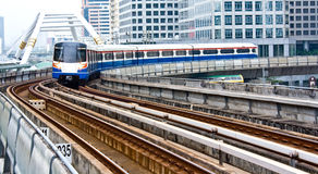 Sky train in Bangkok Stock Images
