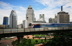 Sky train in Bangkok. Thailand Stock Photography