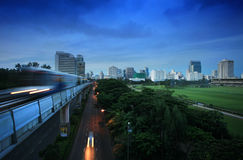 Sky train in Bangkok. Thailand Stock Photo