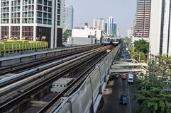 Sky Train in Bangkok Stock Photos