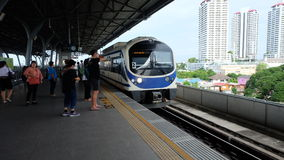 Sky train. In bangkok thailand Royalty Free Stock Images