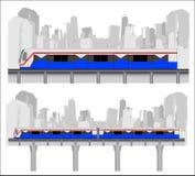 Sky train, Bangkok Thailand. Vector (bts, train stock illustration