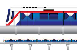 Sky Train in Bangkok, Thailand. Vector and Illustration Stock Image