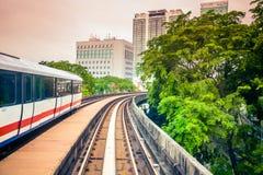 Sky train through the city center in Kuala Lumpu Royalty Free Stock Photos