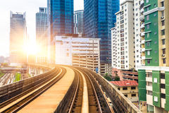 Sky train through the city center in Kuala Lumpur Stock Photo