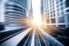 Sky train through the city center in Kuala Lumpur,motion blur Stock Image