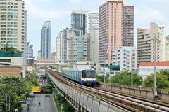 Sky train railway in Bangkok Stock Photography