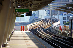 Sky train station. In Bangkok, Thailand royalty free stock photography