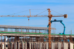 Sky Train System's construction. Stock Photos