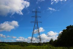 Sky, Transmission Tower, Electricity, Overhead Power Line stock images