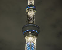 Sky tree tokyo tower at night Stock Photos