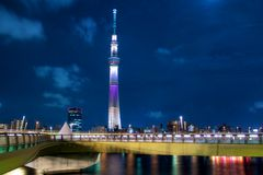 The Sky Tree, Tokyo. The Sky Tree was shot at a summer night, Tokyo, Japan Stock Photography