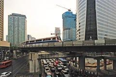 sky trian mass transit in Bangkok Royalty Free Stock Images