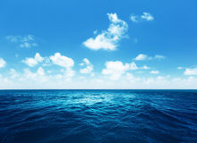 Sky and tropical ocean Stock Images