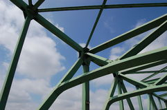 Sky Through A Truss Bridge Royalty Free Stock Photography