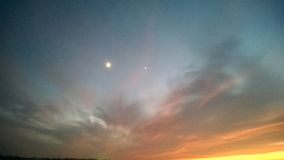 Sky at Twilight Royalty Free Stock Photography