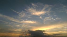 Sky. A Sky at twilight time Royalty Free Stock Photos