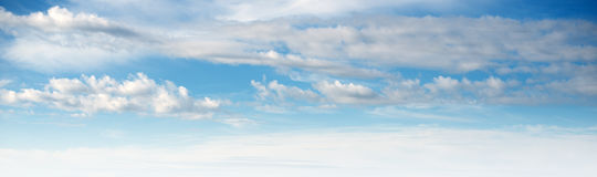 Sky ultramarine clouds. Natural summer day landscape Royalty Free Stock Image
