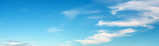 Sky ultramarine clouds. Natural summer day landscape Stock Photo