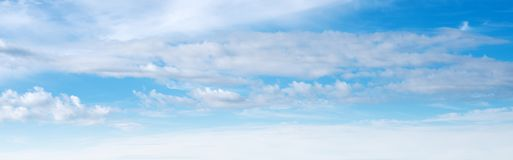 Sky ultramarine clouds. Natural summer day landscape Stock Images