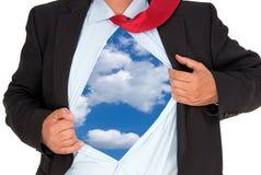 Sky under shirt of businessman Royalty Free Stock Photo