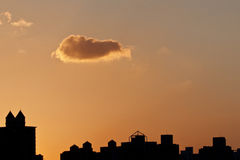 The sky under sunset. The sky with clouds under sunset Royalty Free Stock Photos