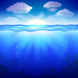Sky and underwater background vector Stock Photos