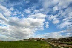 Sky on Urueña castle Stock Images