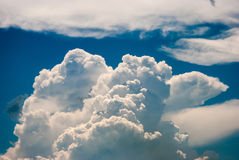 Sky and various cloud formations. Blue sky and various cloud formations Royalty Free Stock Photography
