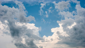 Sky and various cloud formations. Blue sky and various cloud formations Stock Photography