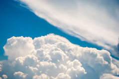 Sky and various cloud formations. Blue sky and various cloud formations Royalty Free Stock Photos