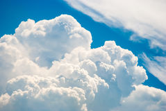 Sky and various cloud formations. Blue sky and various cloud formations Stock Images